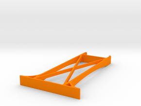 Wooden track bridge support double tall. in Orange Processed Versatile Plastic
