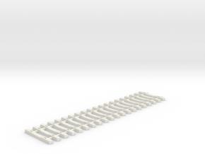 Concrete Tie Lattice - Oscale in White Natural Versatile Plastic