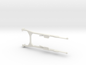 MG08 Sled Front Legs in 1/6th Scale in White Natural Versatile Plastic