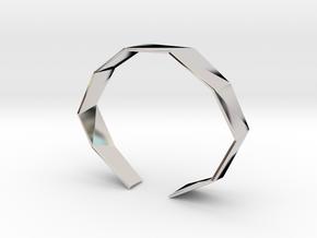 Faceted Bracelet Size M in Platinum