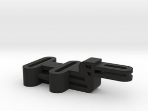 Dual Adjustable Arm for GoPro in Black Natural Versatile Plastic