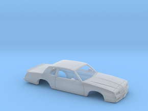 38mm Wheelbase 1987 Chevrolet Monte Carlo SS Shell in Smooth Fine Detail Plastic