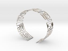 Maze Bracelet Size M in Platinum