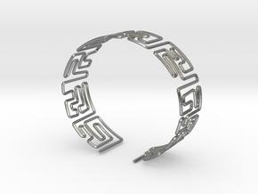 Maze Bracelet Size L in Natural Silver