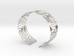 Maze Bracelet Size S in Platinum