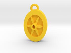 Daffodil pendant in Yellow Processed Versatile Plastic