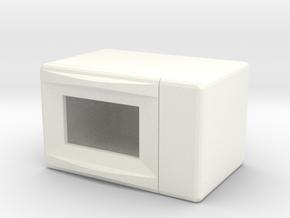 Miniature Dollhouse Microwave in White Processed Versatile Plastic: 1:24