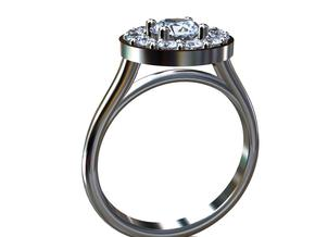 AB050 Halo Ring in Platinum
