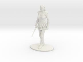 Xena Miniature in White Natural Versatile Plastic: 1:55