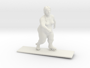 Hilda goes for a skate in White Natural Versatile Plastic