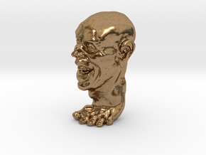Foot Guy 75mm  in Natural Brass