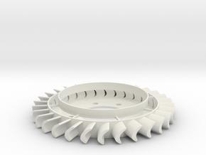 Turbine v2 in White Natural Versatile Plastic