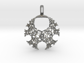 Kleinian Fractal - wire v3 (round) in Natural Silver