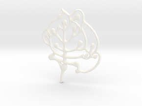 Neolithic 'Tree Of Life' Pendant in White Processed Versatile Plastic