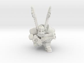 Space Dwarf Thunderer in White Natural Versatile Plastic