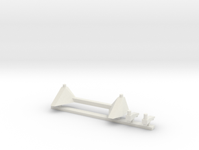 02-Descent Stage Attachment for LM after Apollo 14 in White Natural Versatile Plastic