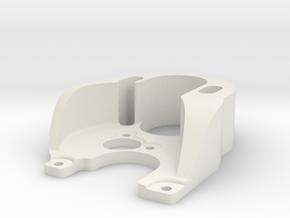 SCX24 outrunner motor plate in White Natural Versatile Plastic