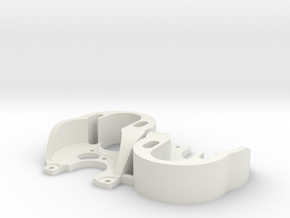 SCX24 outrunner motor plate x2 in White Natural Versatile Plastic