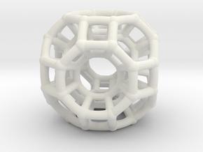 4d Non-Euclidean Bead - Multidimensional Theory Pe in White Natural Versatile Plastic