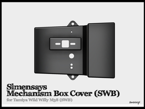 Simensays MechanismBox Cover :: SWB Wild Willy in Black Natural Versatile Plastic