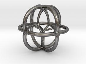 Coxeter Polytope Bead - Scientific Math Art Pendan in Polished Nickel Steel