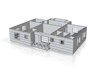first floor plan _150 in Polished Bronzed Silver Steel