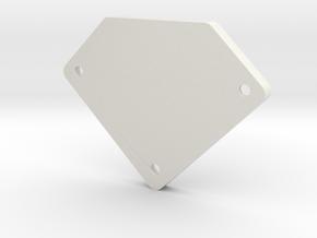 Occupancy Sensor Bottom in White Natural Versatile Plastic