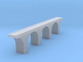 Z Scale Arch Bridge Triple Track 1:220 Scale in Smooth Fine Detail Plastic