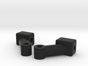SSD Scale Trans Front Mounts in Black Natural Versatile Plastic
