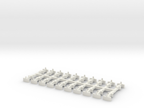 Kato 11-109 + 11-110 couplings for H0e and OO9 in White Natural Versatile Plastic