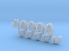 Commission 190 Mk7/8 shoulder pads #2 in Smooth Fine Detail Plastic