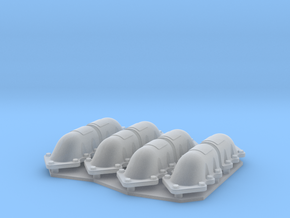 1:48 T-34 scallopped exhaust covers in Smooth Fine Detail Plastic