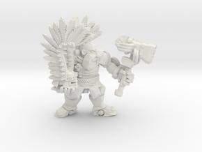 Space Dwarf Captain in White Natural Versatile Plastic