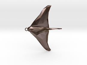 Stingray - Ocean Charm 3D Model - Faceted Pendant in Polished Bronze Steel