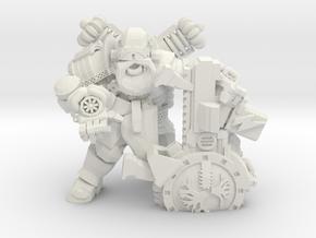 Space Dwarf Logger in White Natural Versatile Plastic