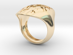 face recessed size 7 in 14K Yellow Gold