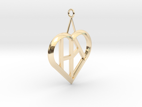 Heart of love pendant [customizable] in 14K Yellow Gold