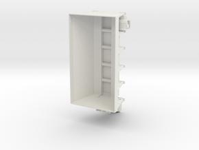 1/25 slide in Sander skid for DOT dump trucks in White Natural Versatile Plastic