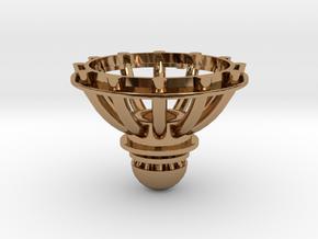 Orions Belt Bottom Silver in Polished Brass