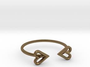 FLYHIGH: Open Heart Skinny Bracelet in Natural Bronze