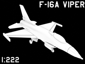 1:222 Scale F-16A 'Viper' (Clean, Deployed) in White Natural Versatile Plastic