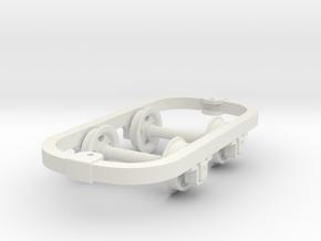 Rugga plain chassis in White Natural Versatile Plastic