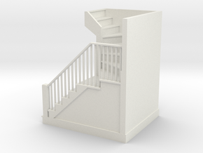 1:48 scale staircase plus steps in White Natural Versatile Plastic