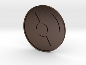 Radioactivist Coin in Polished Bronze Steel