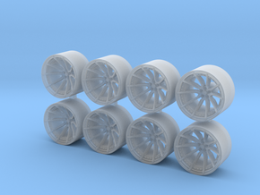 ML X2 8.15x5 1/64 Scale Wheels in Smooth Fine Detail Plastic