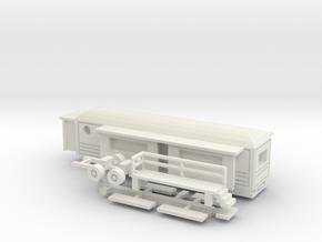 Wohnwagen rundes Dach für 1:160 (N scale) in White Natural Versatile Plastic