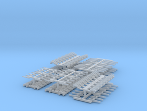 Ship cannons, 1/300 or 6mm scale, Civil War mix in Smoothest Fine Detail Plastic