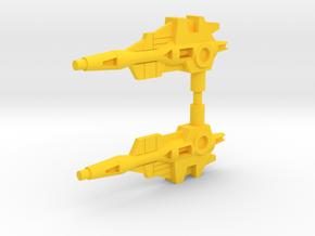 Dual Venom Lasers in Yellow Processed Versatile Plastic