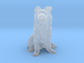 25 mm Border Collie in Smooth Fine Detail Plastic