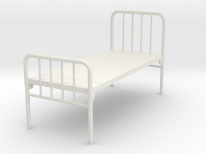 Hospital Bed 1:35 in White Natural Versatile Plastic